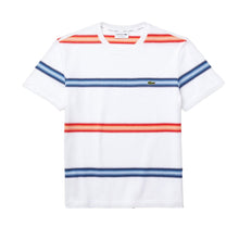 LACOSTE Men's Striped Cotton Piqué Crew Neck T-shirt