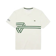 LACOSTE Men's Stripe Print Crew Neck T-shirt