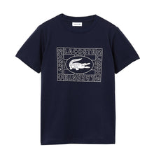 LACOSTE Boys Stamp Print Round Neck T-Shirt - Village Mart