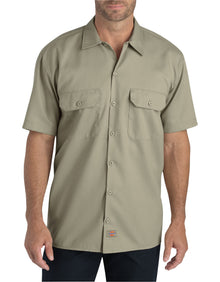 DICKIES FLEX Relaxed Fit Short Sleeve Twill Work Shirt