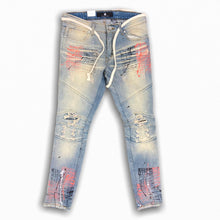 FOCUS JEANS PAINT SPLATTER MOTO DENIM