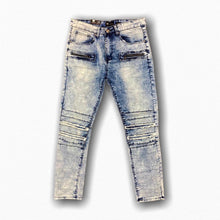 WAIMEA MEN'S LIGHT WASH FASHION BIKER DENIM