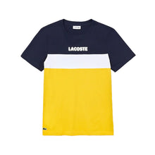 LACOSTE SPORT Colourblock Cotton Blend Jersey T-shirt