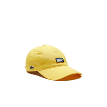 LACOSTE Cotton Cap With Silicone Badge
