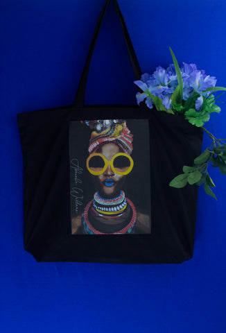 'Black Gold' Large Tote Bag