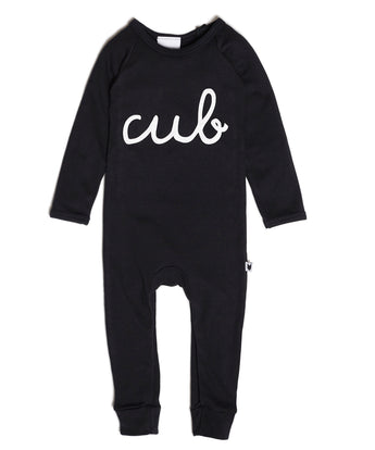 Cub Long Romper, Black