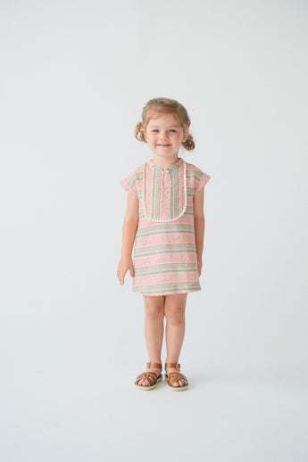 Charlie Dress, Pink Stripe