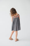 Anya Dress, Grey Floral