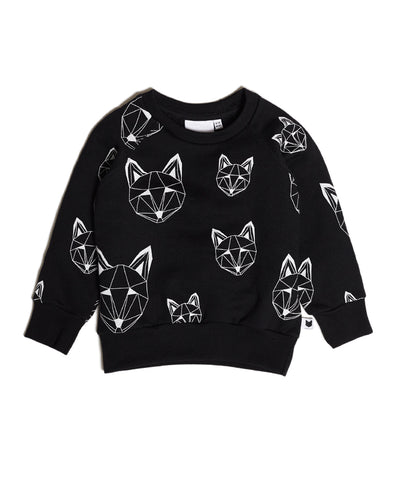 Just Call Me Fox Sweatshirt, Black
