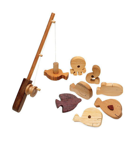 Wood Fishing Play Set