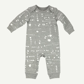 Gray Dot Print Coverall