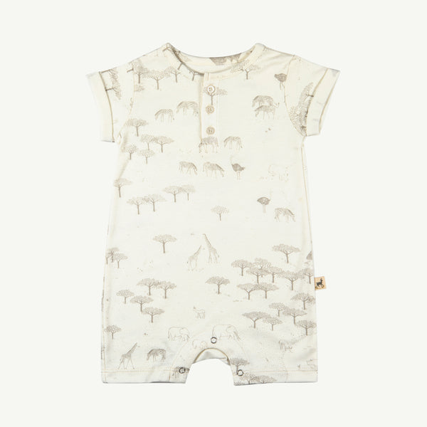 Serengeti Organic Cotton Sleeve Jumpsuit
