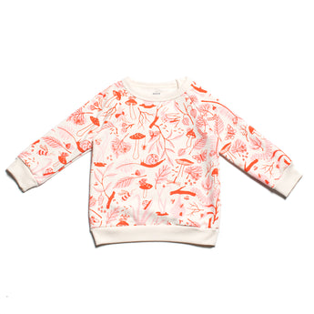 Sweatshirt - Leaves & Bugs, Red/Pink