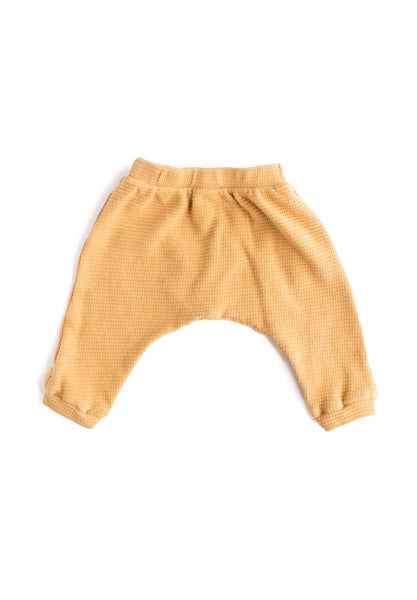 Thermal Organic Harem Pants - Gold