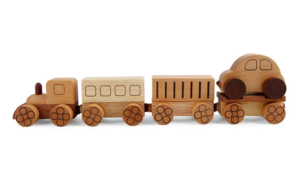 Wooden Train Village