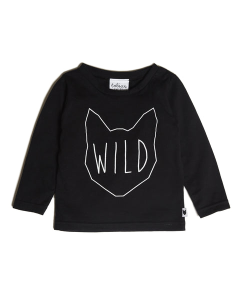 Wild Long-Sleeve Tee, Black