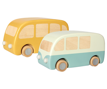 Wooden Bus in Yellow or Blue