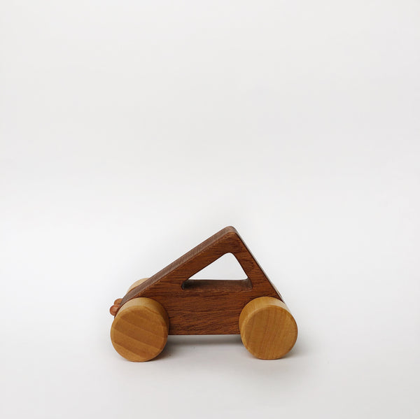 Triangle Wood Shape Car