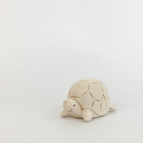 turtle wood figurine front