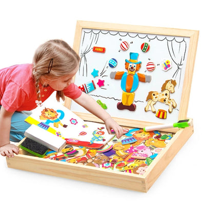 Wooden Educational Toys Magnetic  Board