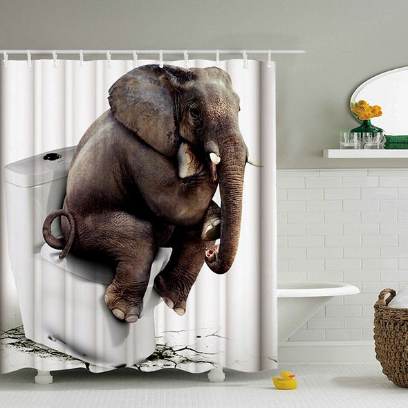 Elephant Bathroom Shower Curtains