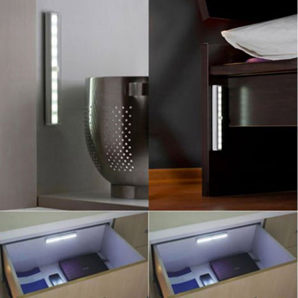 PIR Sensor Portable Wireless Wall Closet Cabinet Night Light/Stairs Light/Underbed Night Light