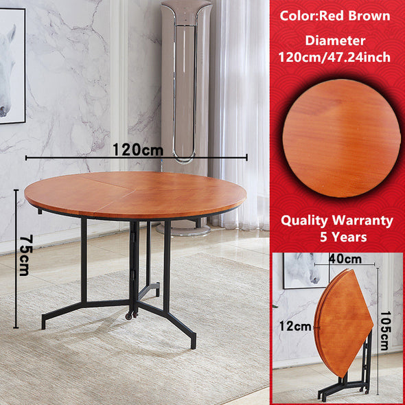 2020 New Arrival Space Saving Round Folding Table