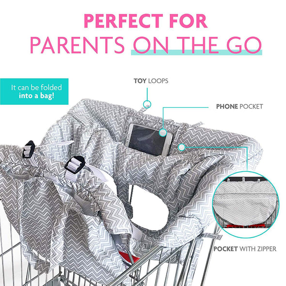 2-in-1 Shopping Cart Cover | High Chair Cover for Baby