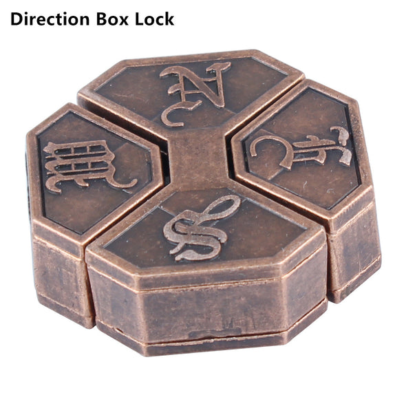 Brain Teasers Toy-Cast Metal Lock Puzzles