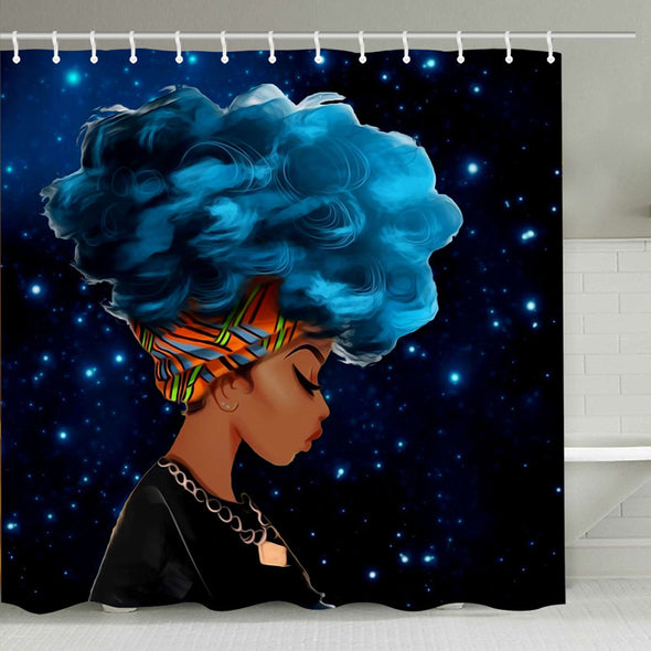 African American Traditional Women Bathroom Shower Curtains
