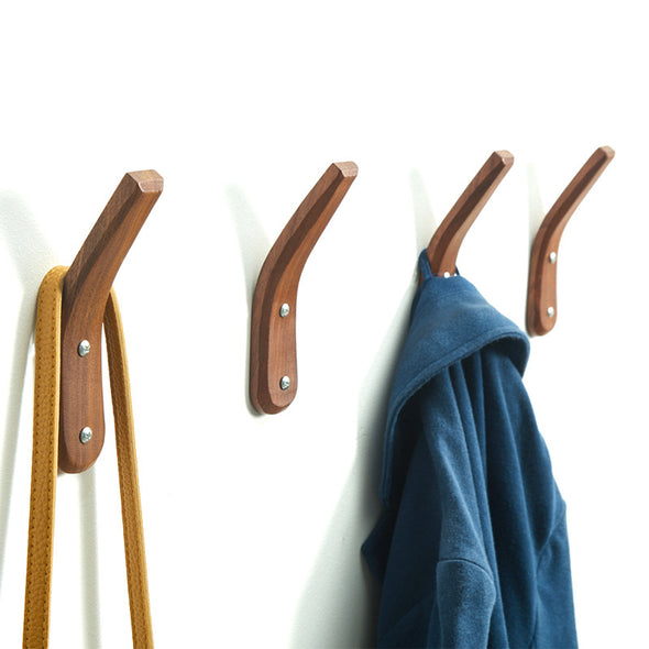 Wall Mounted Handmade  Wood Hook Coat Rack