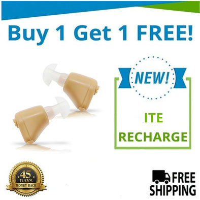 🔥 Buy 1 Get 1 FREE Sale! Buy 1 ITE Recharge Hearing Aid And Get The Second Ear FREE! Get An Entire Pair for Only $259!