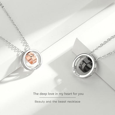 2020 New Design S925 Silver Beast and Beauty Necklaces for Couples