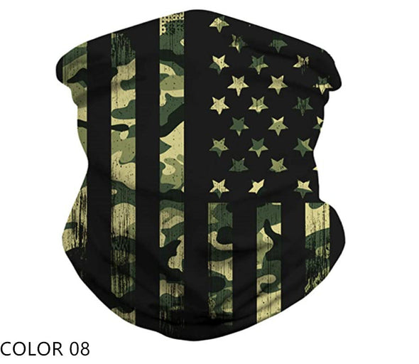 American Flag UV Protection Face Neck Gaiter(8 color choice)