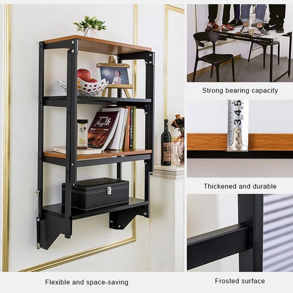 Wall Mounted Convertible Shelf and Table