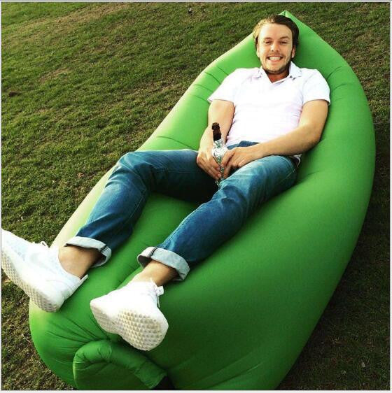 Inflatable Lounge Bag Hammock Air Sofa and Pool Float Ships