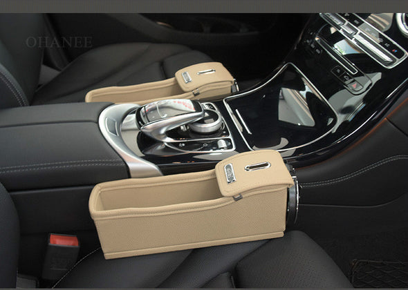 Car Seat Crevice Storage Box (2 Pack Driver Side + Passenger Side)