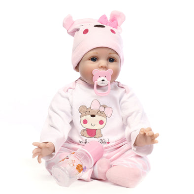 19in/22in cute pink reborn baby doll