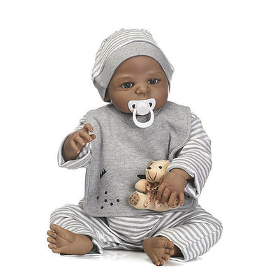 Africa American Reborn Baby Dolls 23 inch/Toys Age 3+
