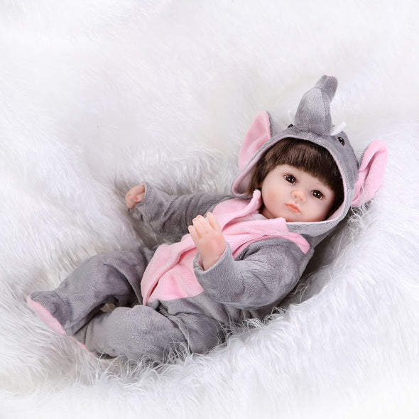 reborn baby doll with union elephant suit