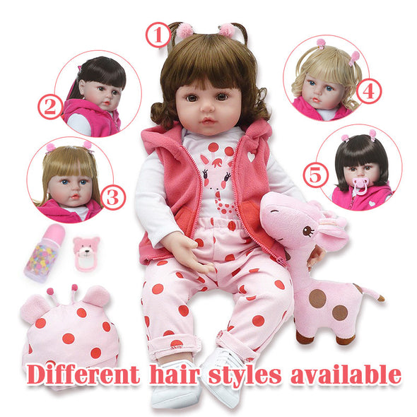Different Hair Styles reborn baby doll