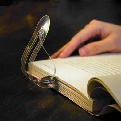 Buttom battery bookmark led reading lamp