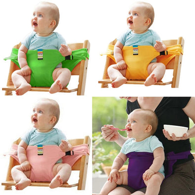 Safety Baby Chair Harness Travel Foldable Infant High Dinning Cover Seat