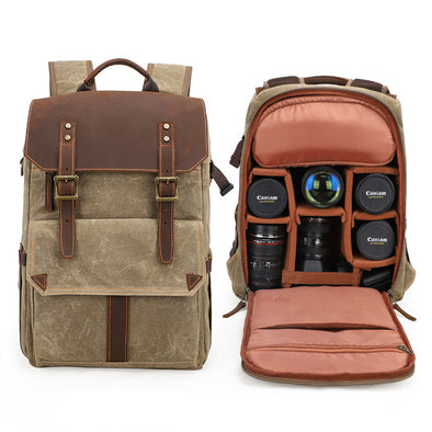 2020 Upgrade Large Capacity  Waterproof  Canvas Camera Photo Backpack