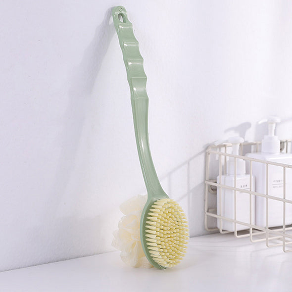2 IN 1 Bath Body Brush with Soft Loofah and Bristles