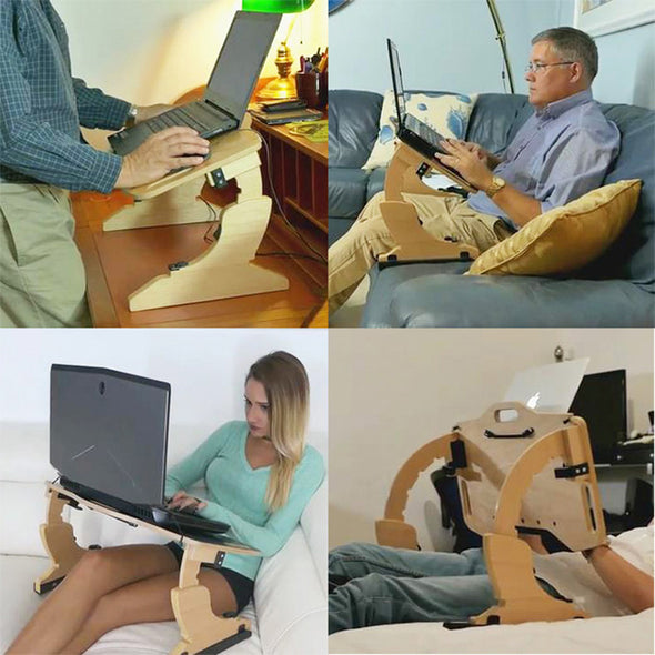 Portable Adjustable Laptop Bed Desk Stand Tray Table