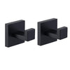 Coat hooks wall rack wall mount stainless steel black bathroom hangers