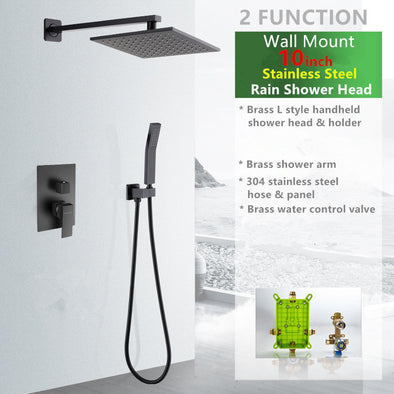 Luxury Matte Black Shower System