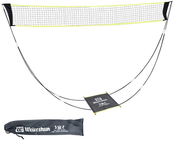 Portable Badminton Net with Stand Carry Bag