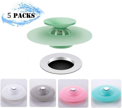 2-in-1 Drain Tub Stopper-5 PACKS